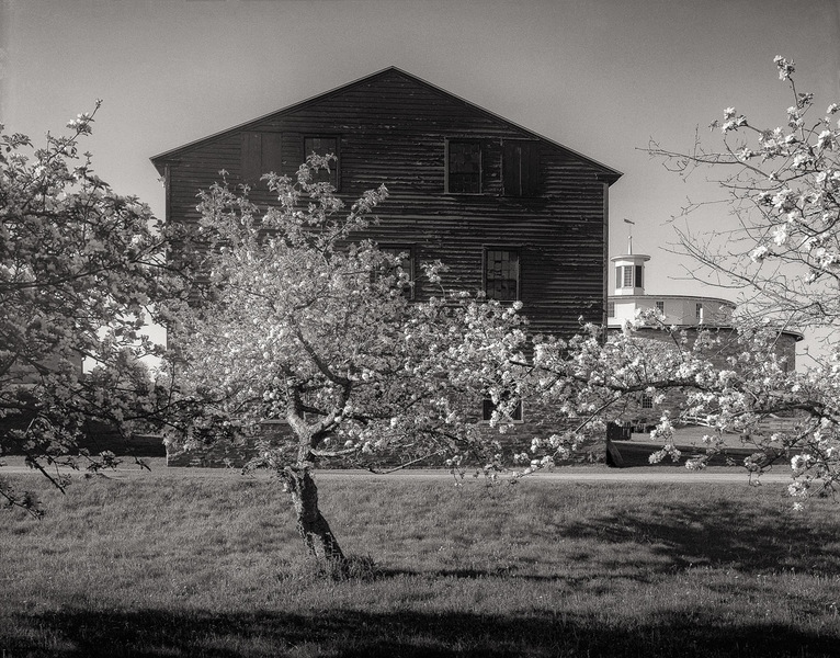 Blooming Apple Orchard, Tannery Building & Round Stone Barn