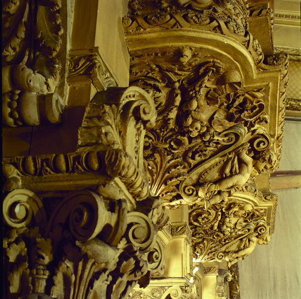 Box Seat Bracket, right, Scrolls & Cherubs