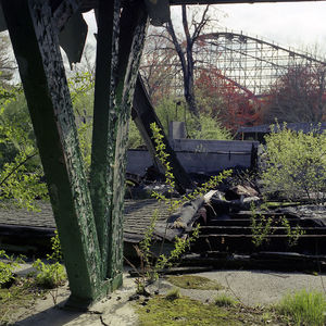 View toward Roller Coaster Track from Collapsing Pavilion