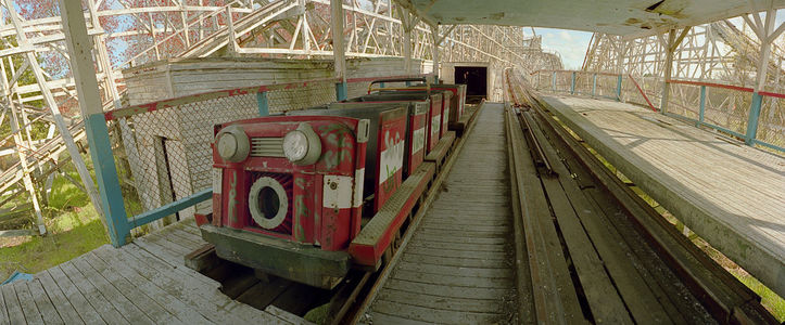 Comet Roller Coaster at the Platform after the Last Run